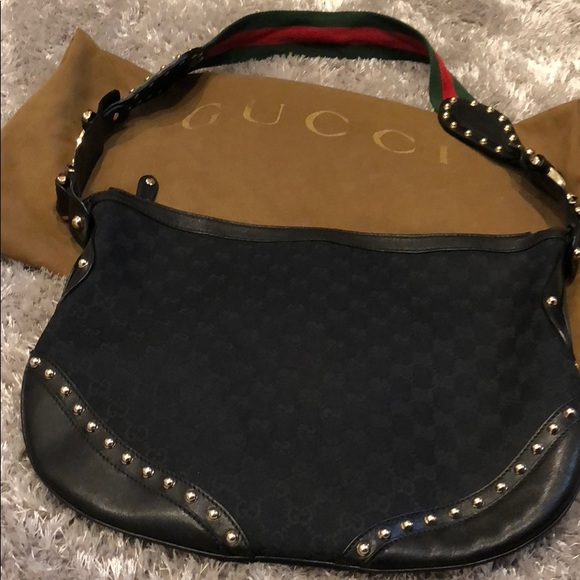 b10d287ee3e Gucci Handbags - GUCCI Pelham Web Hobo Studded GG Canvas in Medium